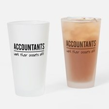 Accountants work assets off Drinking Glass