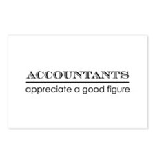Accountants good figure Postcards (Package of 8)
