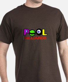 Colorful Billiards Pool Lettering T-Shirt