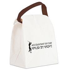 Accountant ninja Canvas Lunch Bag