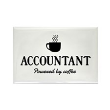 Accountant powered coffee Magnets