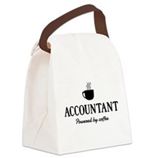 Accountant powered coffee Canvas Lunch Bag
