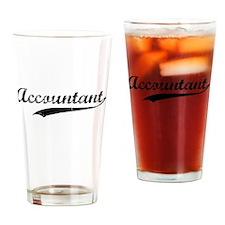 Accountant swoosh Drinking Glass