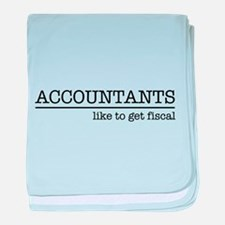 Accountants like to get fiscal baby blanket