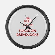 Unique Dreadlocks Large Wall Clock