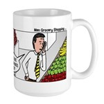 Men Shopping Large Mug