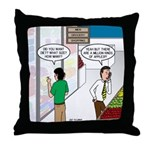 Men Shopping Throw Pillow