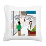 Men Shopping Square Canvas Pillow