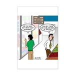 Men Shopping Mini Poster Print