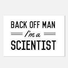 Back off man I'm a scientist Postcards (Package of