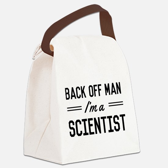 Back off man I'm a scientist Canvas Lunch Bag