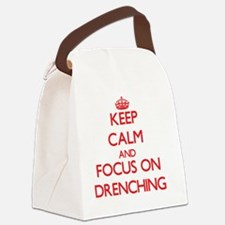 Funny Drown Canvas Lunch Bag