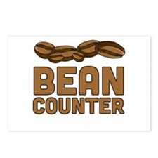 Bean counter Postcards (Package of 8)