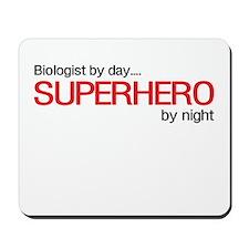 Biologist day hero night Mousepad