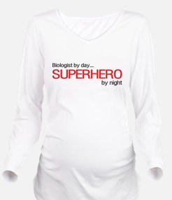 Biologist day hero night Long Sleeve Maternity T-S