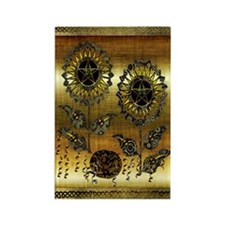 Gold Paisley Pagan World Rectangle Magnet
