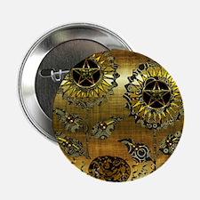 "Gold Paisley Pagan World 2.25"" Button"
