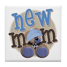 New Mom Teddy Tile Coaster