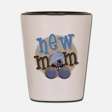 New Mom Teddy Shot Glass