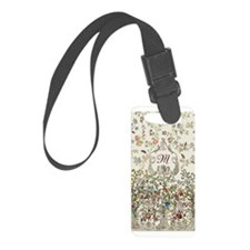 Customizable Rococo Monogram Luggage Tag
