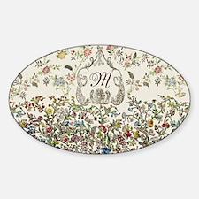 Customizable Rococo Monogram Decal