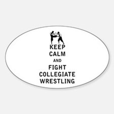 Keep Calm and Fight Collegiate Wrestling Decal