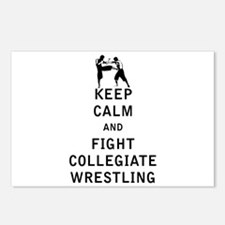 Keep Calm and Fight Collegiate Wrestling Postcards