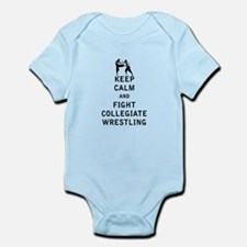 Keep Calm and Fight Collegiate Wrestling Body Suit