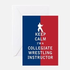 Keep Calm I'm a Collegiate Wrestling Instructor Gr