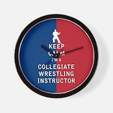 Keep Calm I'm a Collegiate Wrestling Instructor Wa
