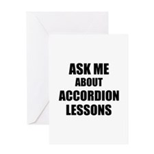 Ask me about Accordion lessons Greeting Cards