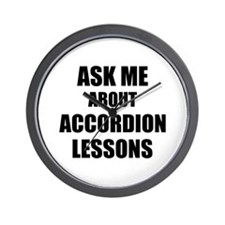 Ask me about Accordion lessons Wall Clock