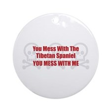 Mess With Tibbie Ornament (Round)