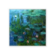monet nymphea lily pond givern Sticker