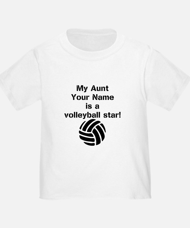 Volleyball aunt baby clothes gifts baby clothing for Volleyball custom t shirts