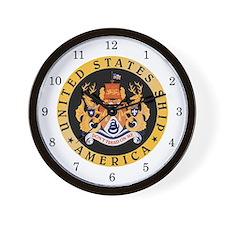 USS America CV-66 Wall Clock