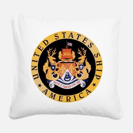 USS America CV-66 Square Canvas Pillow