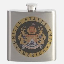 USS America CV-66 Flask