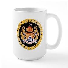 Uss America Cv-66 Large Mugs