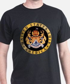 Personalized Uss America Cv-66 T-Shirt