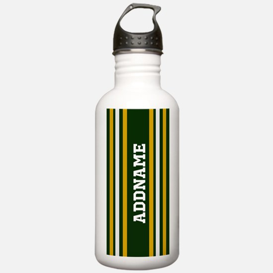 Green Yellow White Str Water Bottle