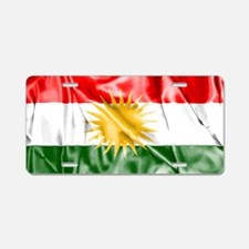 Kurdish Flag Aluminum License Plate