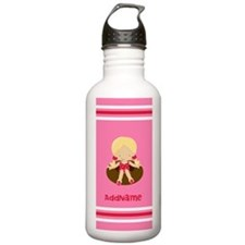 Pool Girl Stripes Pers Water Bottle