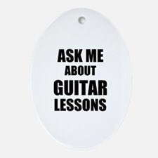 Ask me about Guitar lessons Ornament (Oval)