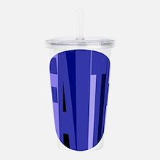 Faith (shades Of Blue) Acrylic Double-Wall Tumbler