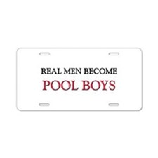 Funny Real men Aluminum License Plate