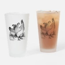 Cute Rooster chicken Drinking Glass