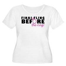 Final Fling Before The Ring Plus Size T-Shirt