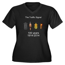 The Traffic  Women's Plus Size V-Neck Dark T-Shirt