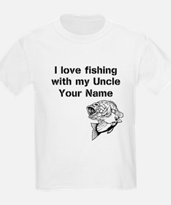 I Love Fishing With My Uncle (Custom) T-Shirt